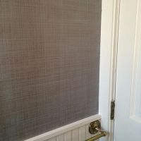 Double strie wall finish in bronze and blue | Modern ...