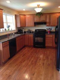 Kitchen w black appliances | Kitchen ideas | Pinterest ...