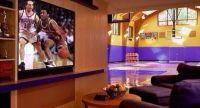 NFL/NBA Man Cave idea | Man Cave | Pinterest | Caves ...