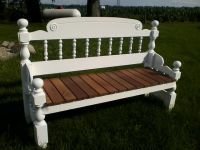 Handmade/repurposed headboard & footboard bench. | Re ...