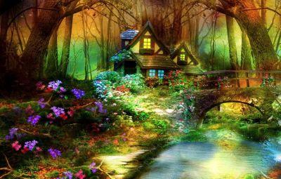 Magic Forest wallpaper free | 3d art | Pinterest | Cottages, Ranger and Backgrounds