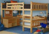 desk bunk bed combo | FULL size loft bed w/desk underneath ...