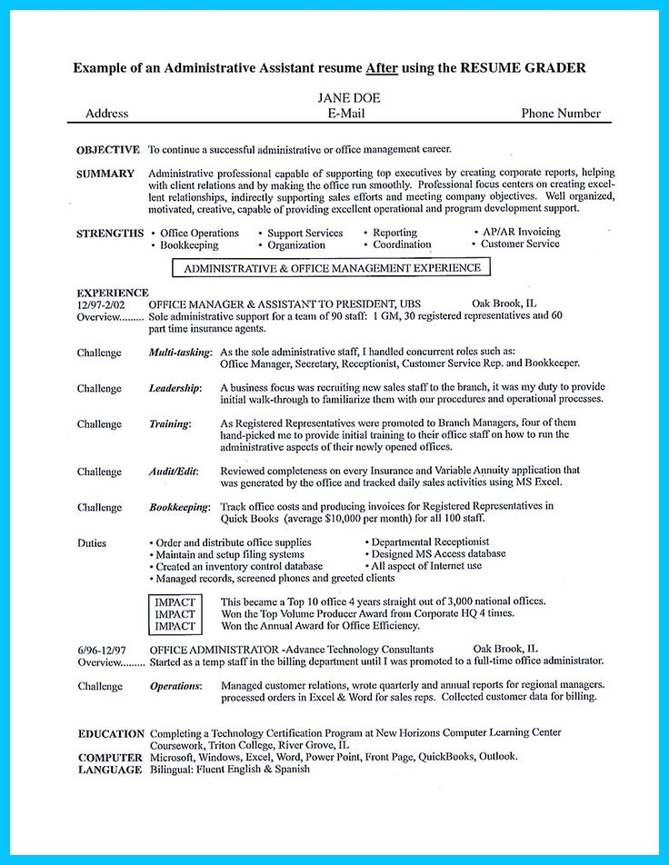 Sample Administrative Assistant Resume And Tips M225;s De 1000 Ideas Sobre Administrative Assistant En