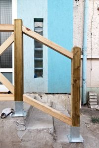 Best 20+ Outdoor stair railing ideas on Pinterest   Deck ...