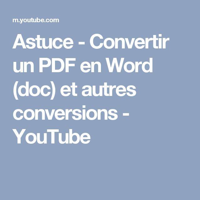convertir un cv word en pdf