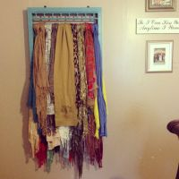 1000+ ideas about Scarf Rack on Pinterest   Scarf Hanger ...