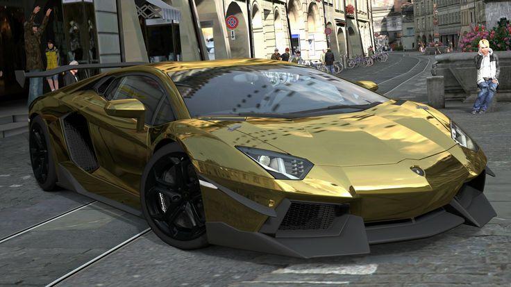 Cop Car Wallpaper Lamborghini Aventador Gold 2355 Full Hd Wallpaper Desktop