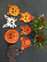 Safari Animal Masks... With paper plates | Rainforest ...