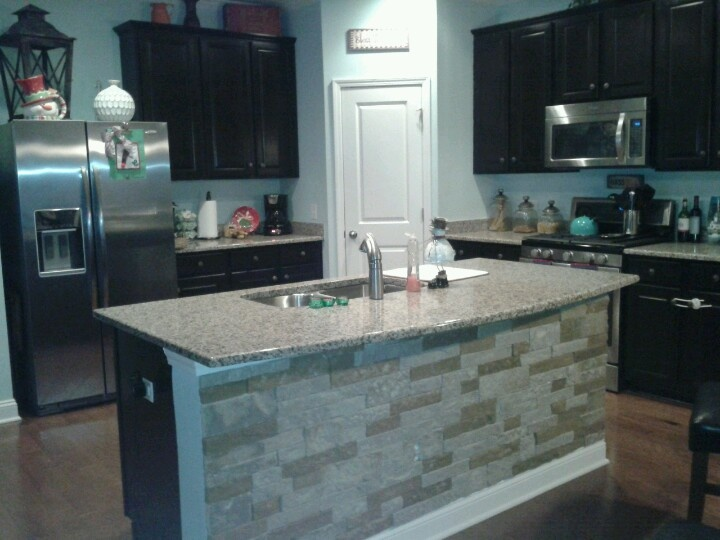 Airstone Kick Panel Backsplash From Lowes No More Shoe Scuffs At