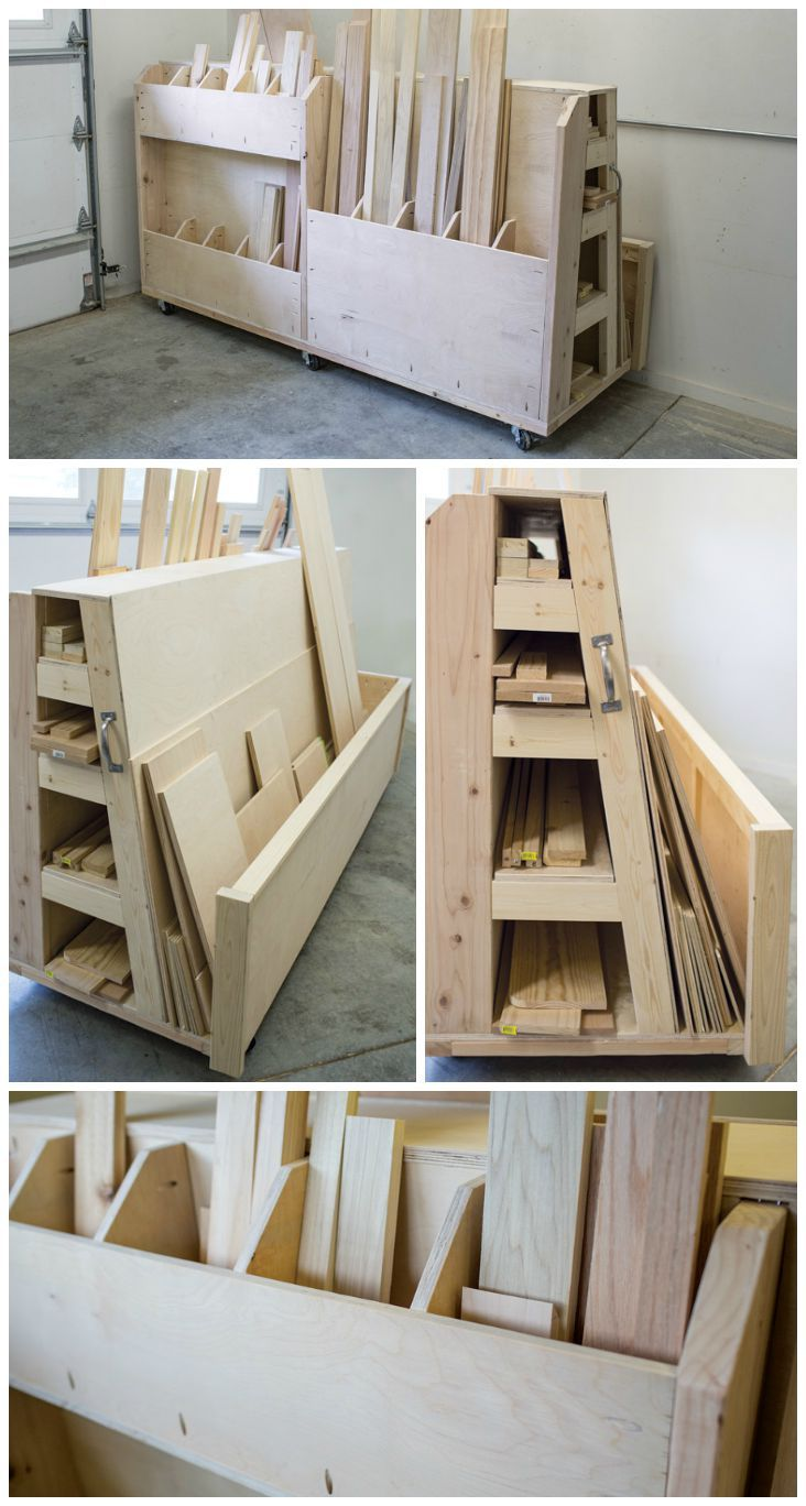 Diy Rolling Lumber Sheet Goods Cart Finding A Place To