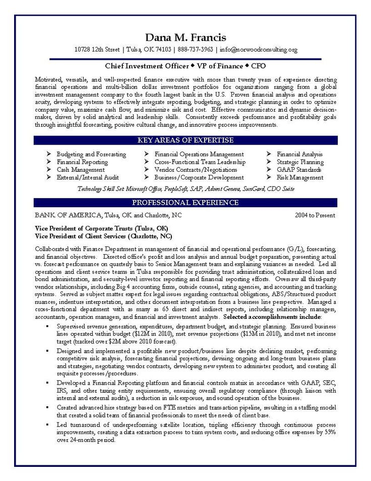best finance manager resume samples