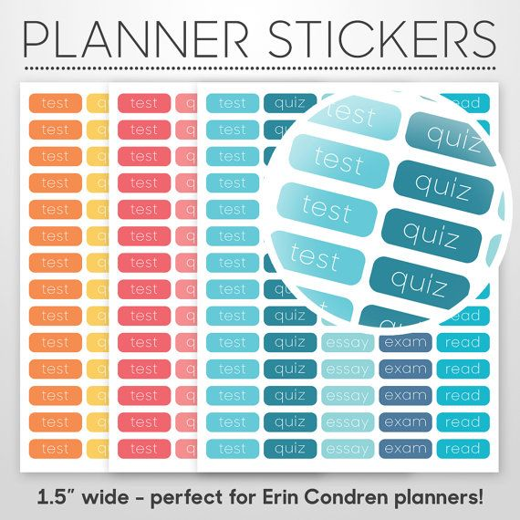 college student day planner