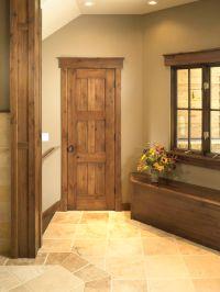 Rustic Craftsman Interior Closet Door (Square Top Rail, 6 ...