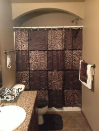 Bathroom brown and cheetah decor. Love this! | The New ...