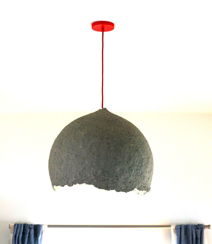 Diy How To Make A Paper Mache Lamp I Bet This Would Be