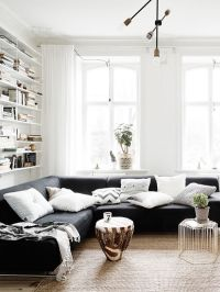 25+ best ideas about Black living rooms on Pinterest