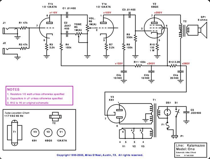 guitar effects circuit diagram
