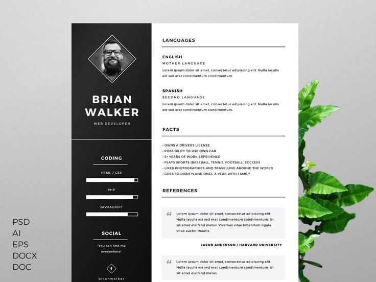 comment faire un beau cv photoshop