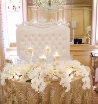 Stylish Sweetheart Table Decorations | Weddings Romantique ...