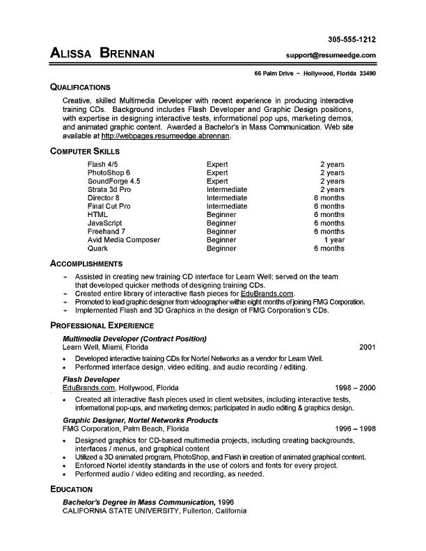 Skills On Resume Example - communication on resume