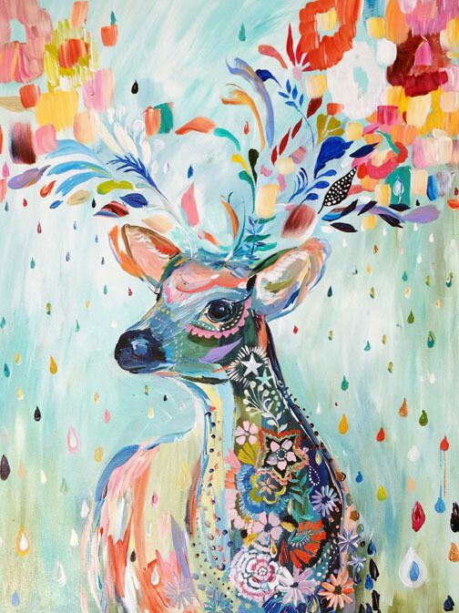Pintar Cuadros Al Oleo Faciles Deer Abstract Painting | Art | Pinterest | Deer, Abstract