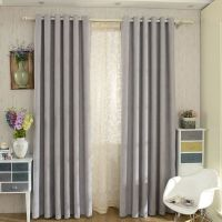 Modern Chenille Grey Bedroom Curtains Blackout | Grey ...