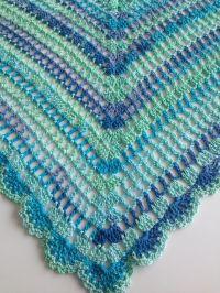 Best Selling Item - Crochet Blue Mint Ombre Shawl ...