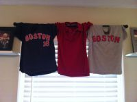 Window treatment in boys room. So simple, use shirts they ...