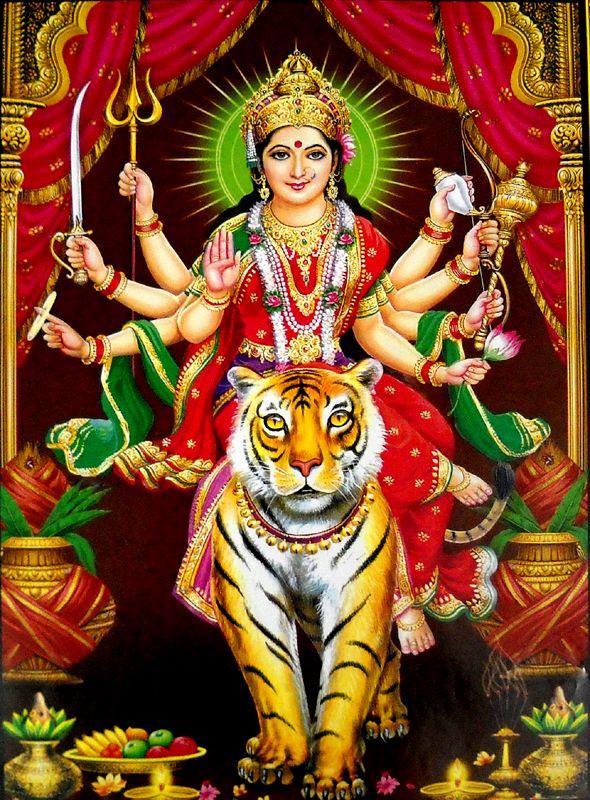Shiva 3d Name Wallpapers Download Goddess Durga On Her Vehicle Lion Durgati Nashini 164 Maa