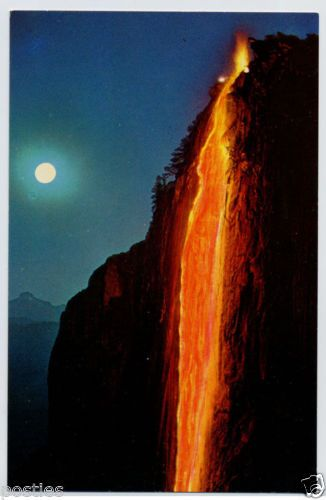 Hd Wallpaper Yosemite Fire Fall 1960s Yosemite Falls Firefall Waterfall California