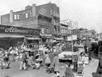Belmont Avenue pushcart market east from Thatford Avenue ...