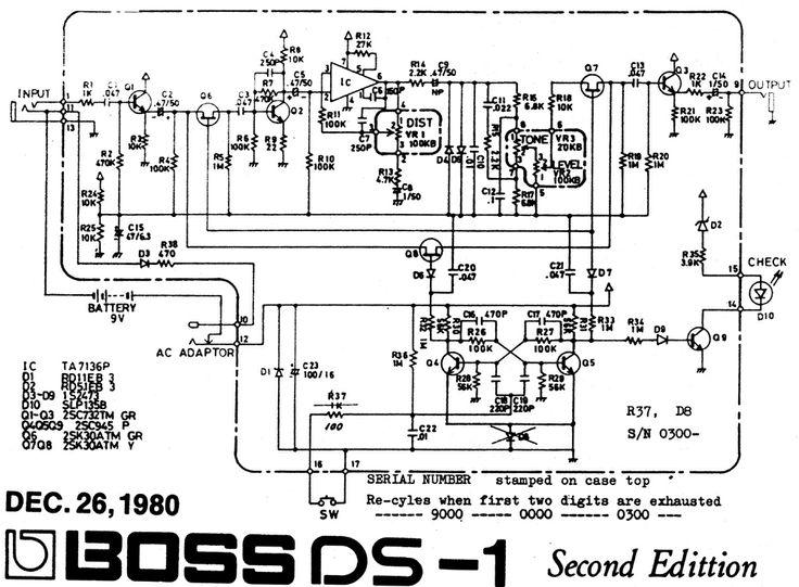 boss distortion pedal schematics