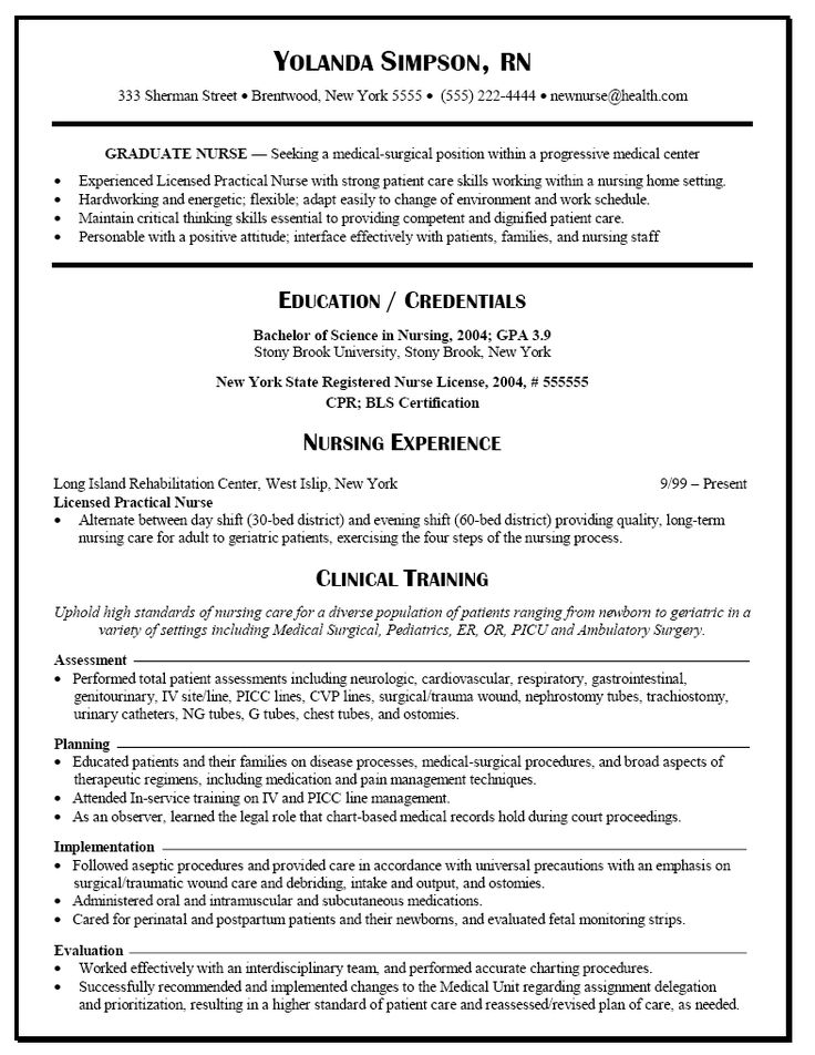 10 sample rn resume