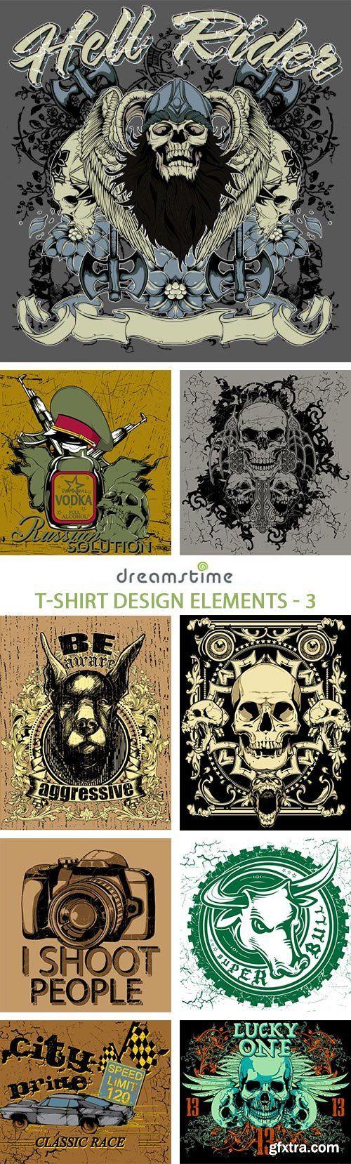 T shirt design 7 25xeps -  T Shirt Design Elements 3 25xeps Download