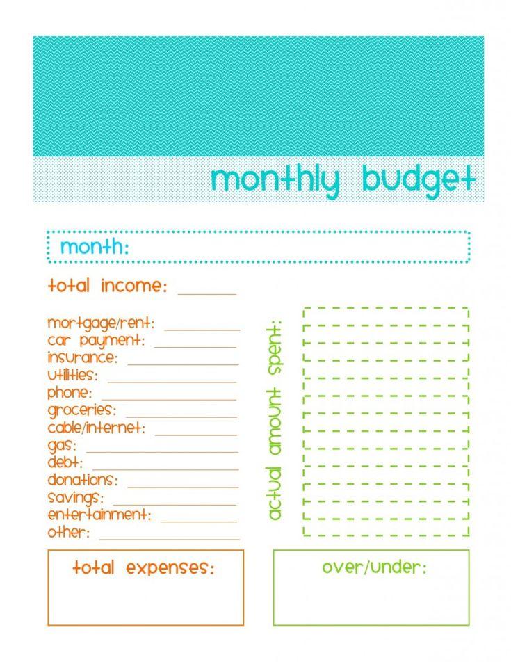 basic budgeting sheet