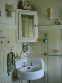 farmhouse bathroom - Need a corner medicine cabinet for a ...