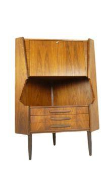 Mid Century Danish Rosewood Corner Cabinet