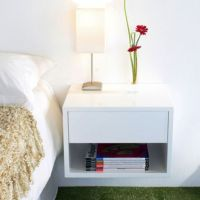 Floating wall-mounted bedside table | Small Space Interior ...