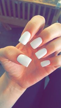 Solid Color Acrylic Nails
