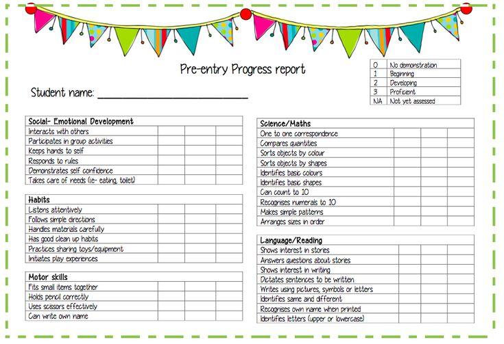 Nursery School Report Card Template | Cover Letter Salutation Ending