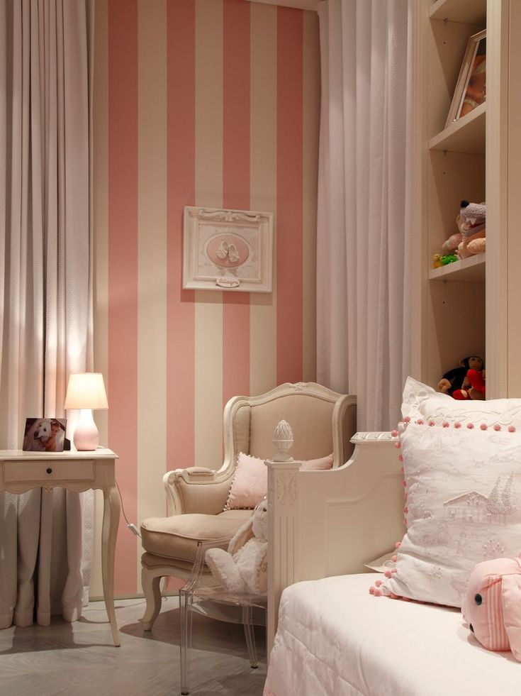 Teenage Girl Room White And Gold Polka Dot Wallpaper 25 Best Ideas About Pink Striped Walls On Pinterest