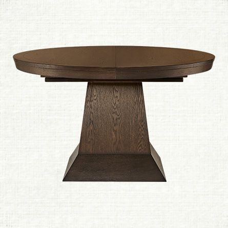 Round To Oval Pedestal Table 54quotdia Extending To 85quot X 54
