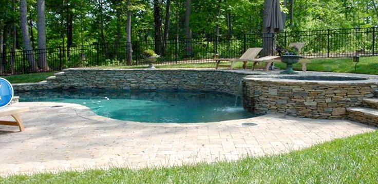 Pool built into hill