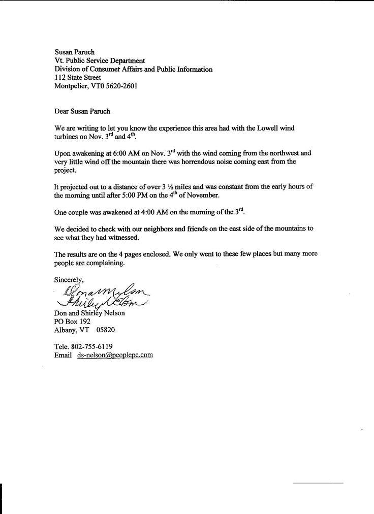 tenant noise complaint letter to landlord