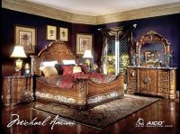 Michael Amini Excelsior Bedroom Furniture Fruitwood Finish ...