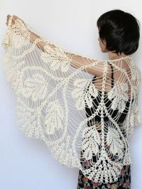 Crochet shawl pattern Wedding shawl Wrap shawls Crochet ...