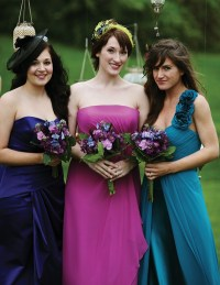 Purple bridesmaid dress Magenta Venus Bella bridesmaid
