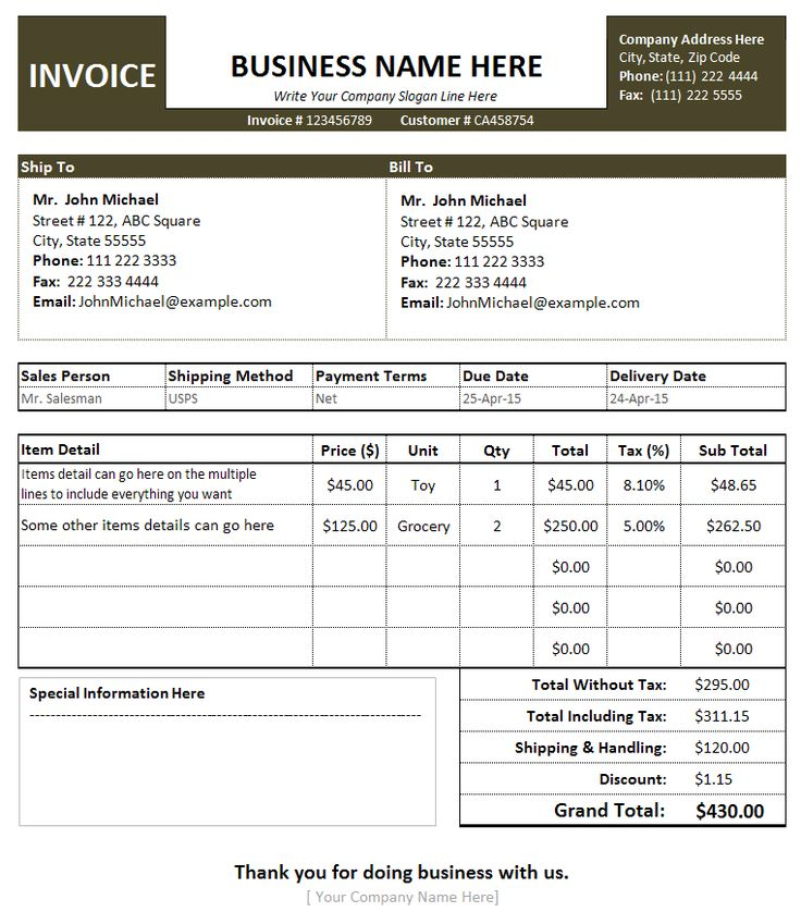 Proforma Invoice Template Free Excel Word Pdf 15 Best Images About Invoice Templates On Pinterest