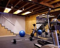 Basement gym with rubber flooring | Basement Reno Ideas ...