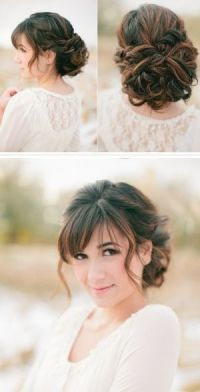 25+ best ideas about Bangs Updo on Pinterest